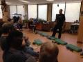 Andy C. explaining exercises